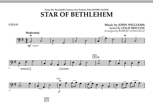 """Star of Bethlehem (from """"Home Alone"""") - Cello (Orchestra)"""