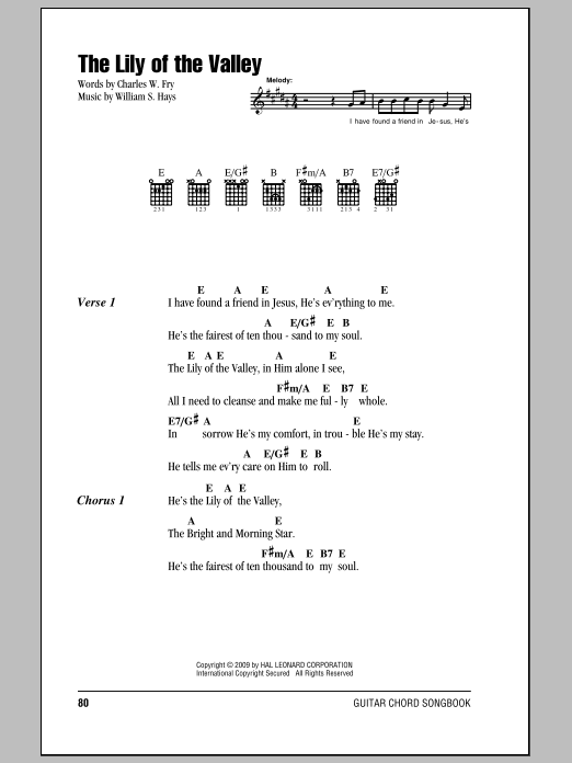 The Lily Of The Valley Sheet Music