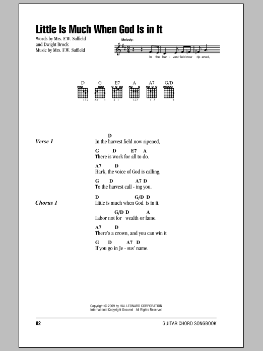 Little Is Much When God Is In It Sheet Music