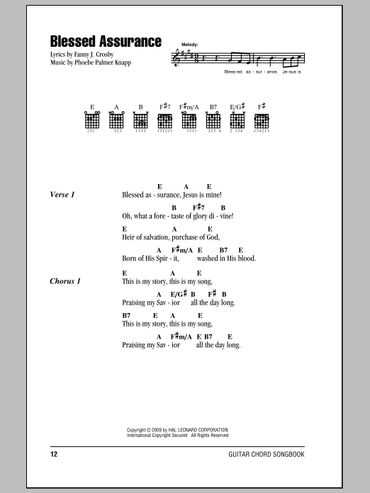 Blessed Assurance Sheet Music