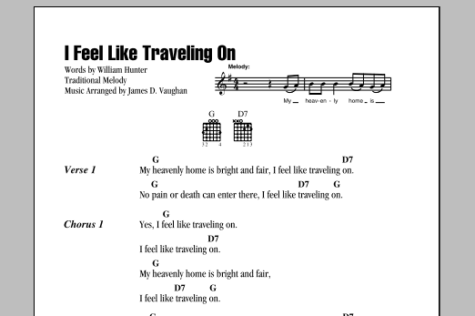 I Feel Like Traveling On Sheet Music