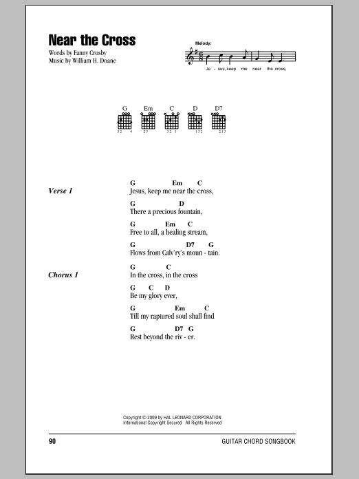 Near The Cross Sheet Music