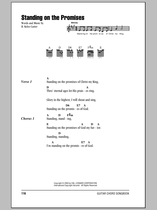 Standing On The Promises Sheet Music