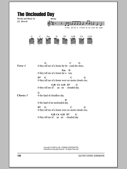The Unclouded Day Sheet Music
