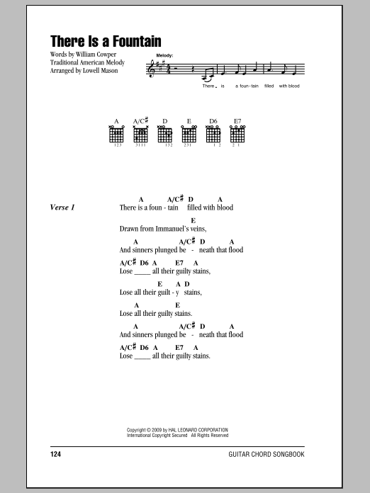 There Is A Fountain Sheet Music