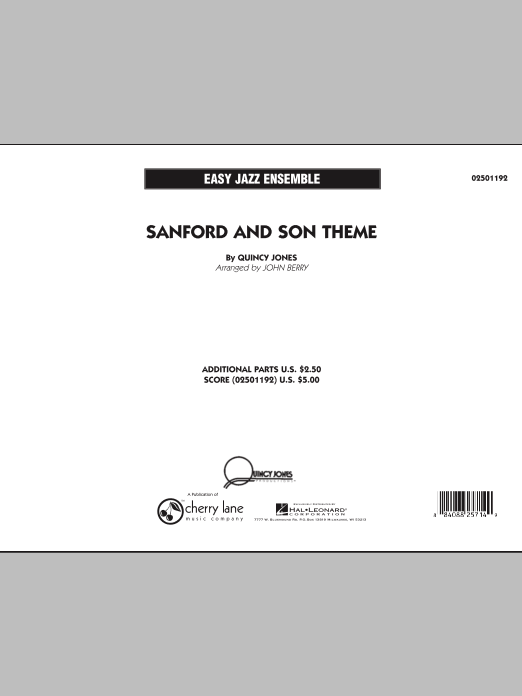 Sanford and Son Theme (COMPLETE) sheet music for jazz band by John Berry and Quincy Jones. Score Image Preview.