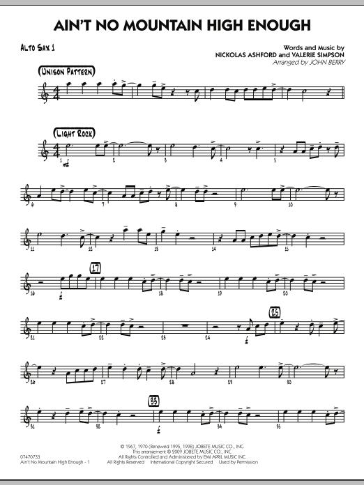 Ain't No Mountain High Enough - Alto Sax 1 (Jazz Ensemble)