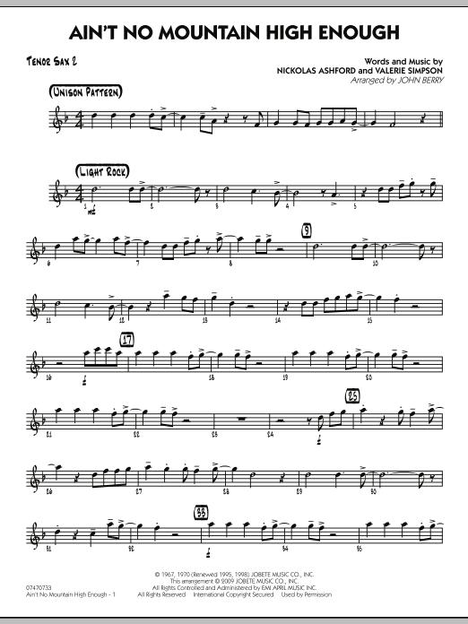 Ain't No Mountain High Enough - Tenor Sax 2 (Jazz Ensemble)