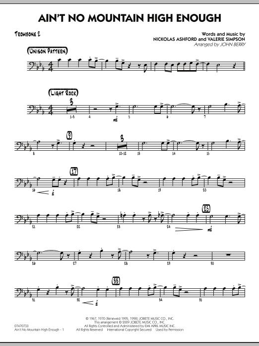 Ain't No Mountain High Enough - Trombone 2 (Jazz Ensemble)