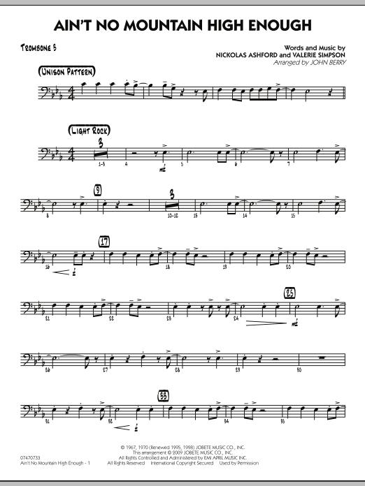 Ain't No Mountain High Enough - Trombone 3 (Jazz Ensemble)
