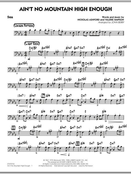 Ain't No Mountain High Enough - Bass (Jazz Ensemble)