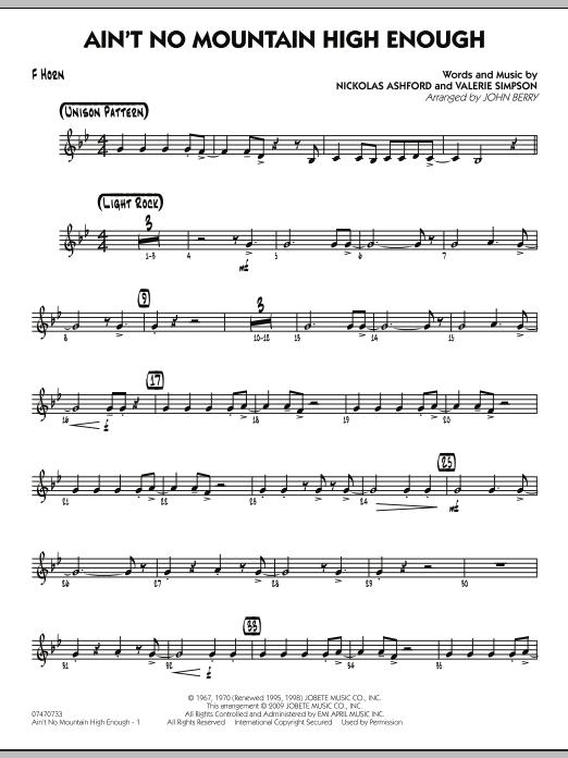 Ain't No Mountain High Enough - F Horn (Jazz Ensemble)