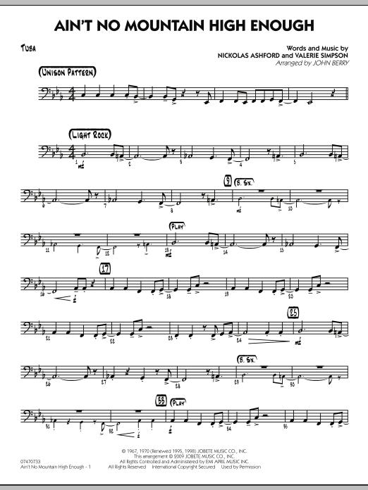 Ain't No Mountain High Enough - Tuba (Jazz Ensemble)