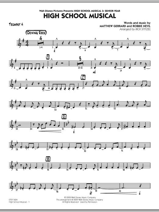 "High School Musical (from ""High School Musical 3: Senior Year"") - Trumpet 4 (Jazz Ensemble)"