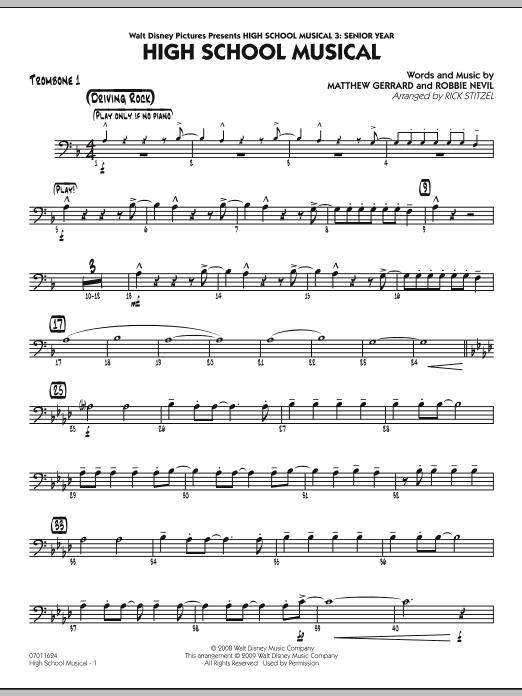 "High School Musical (from ""High School Musical 3: Senior Year"") - Trombone 1 (Jazz Ensemble)"