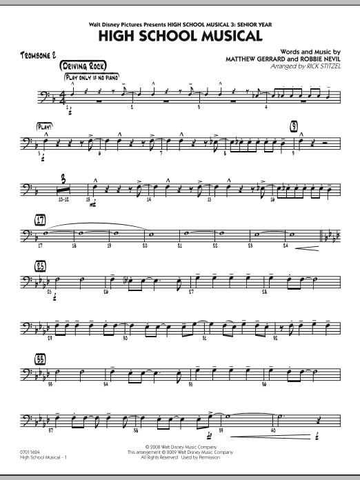 "High School Musical (from ""High School Musical 3: Senior Year"") - Trombone 2 (Jazz Ensemble)"
