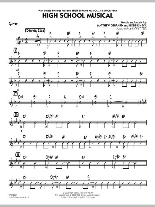 "High School Musical (from ""High School Musical 3: Senior Year"") - Guitar (Jazz Ensemble)"
