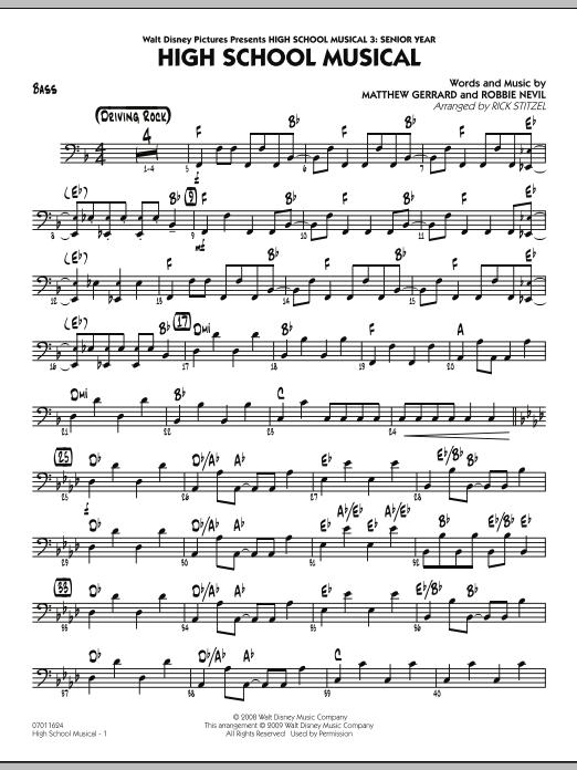 "High School Musical (from ""High School Musical 3: Senior Year"") - Bass (Jazz Ensemble)"