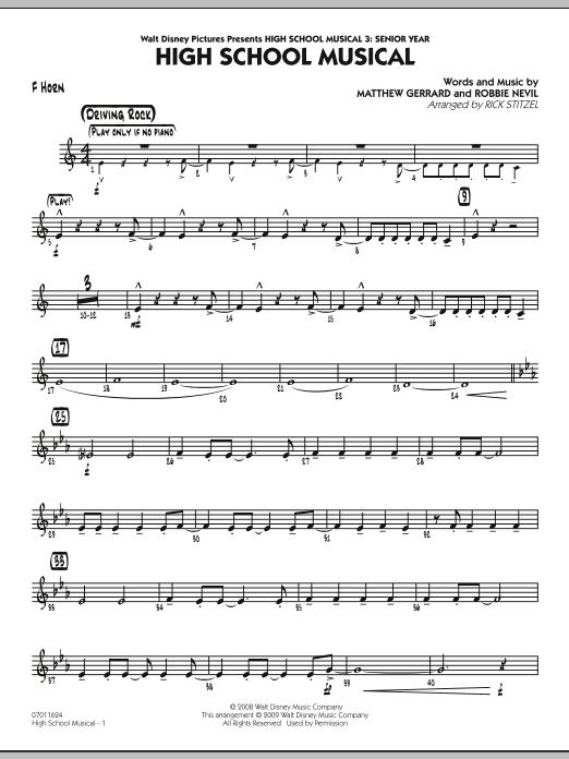 "High School Musical (from ""High School Musical 3: Senior Year"") - F Horn (Jazz Ensemble)"