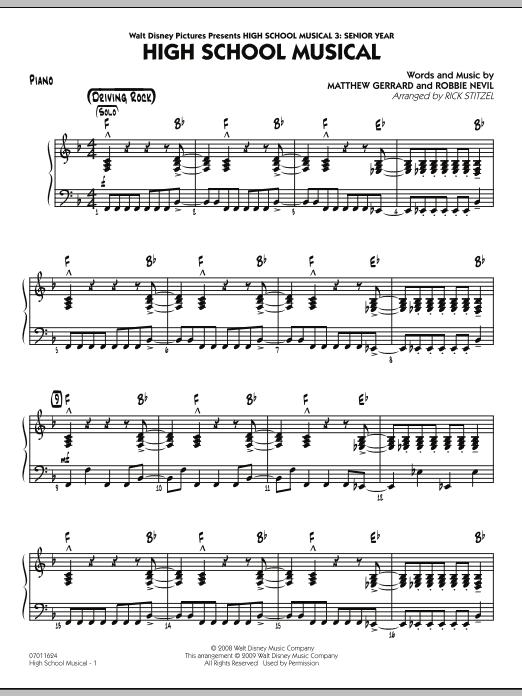 "High School Musical (from ""High School Musical 3: Senior Year"") - Piano (Jazz Ensemble)"