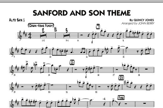 Sanford and Son Theme - Alto Sax 1 (Jazz Ensemble)