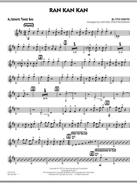 Ran Kan Kan - Alternate Tenor Sax by Tito Puente, Michael Philip Mossman,  Tito Puente - Hal Leonard - Prima Music