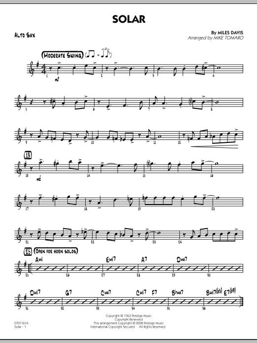 Solar - Alto Sax (Jazz Ensemble)