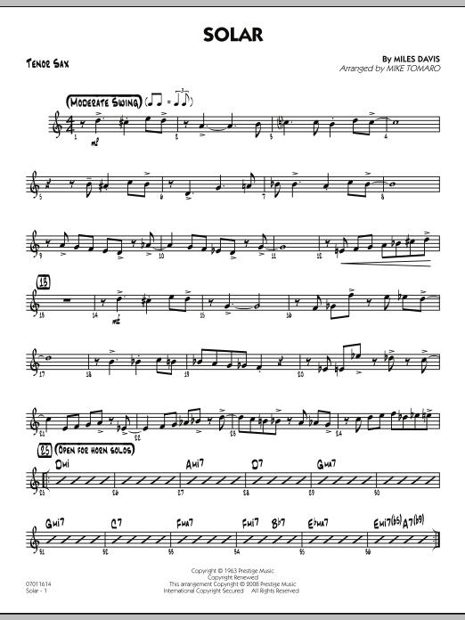Solar - Tenor Sax (Jazz Ensemble)