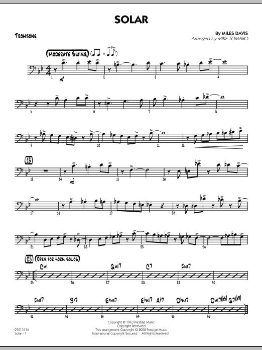 Solar - Trombone (Jazz Ensemble)