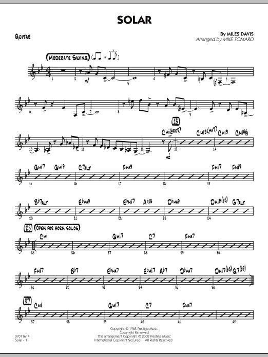 Solar - Guitar (Jazz Ensemble)
