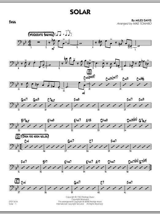 Solar - Bass (Jazz Ensemble)