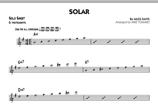 Solar - Eb Solo Sheet (Jazz Ensemble)