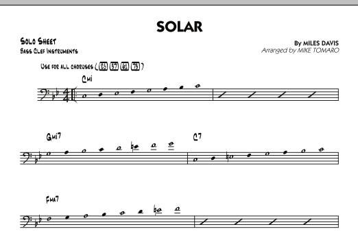 Solar - Bass Clef Solo Sheet (Jazz Ensemble)