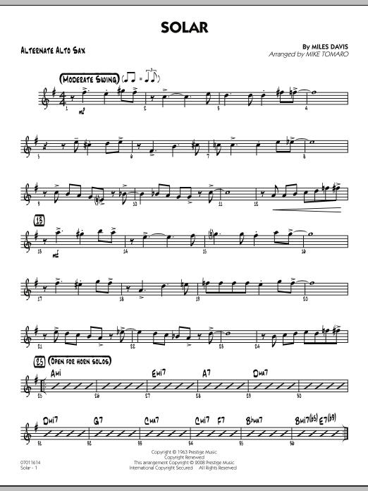 Solar - Alternate Alto Sax (Jazz Ensemble)