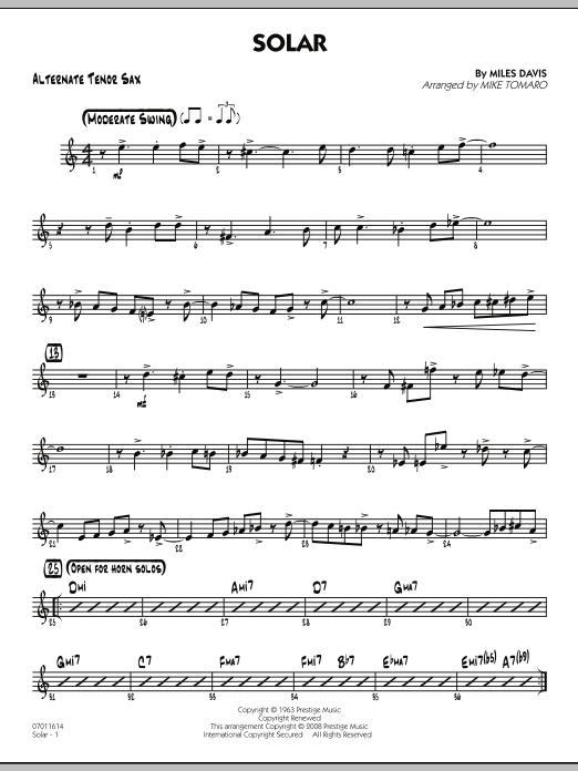 Solar - Alternate Tenor Sax (Jazz Ensemble)