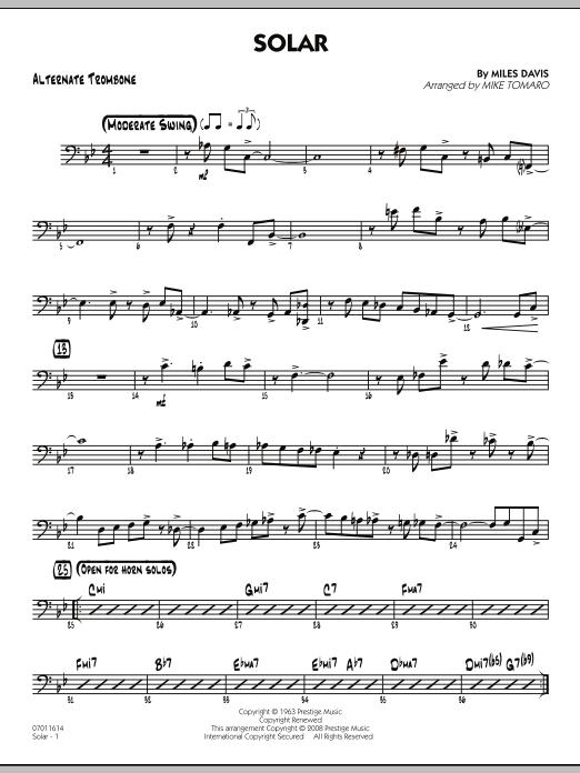 Solar - Alternate Trombone (Jazz Ensemble)