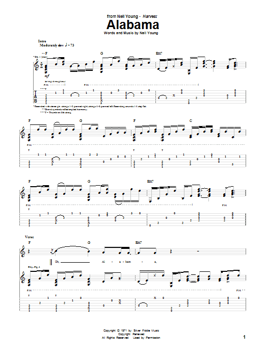 Alabama Sheet Music