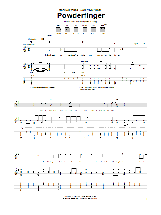 Powderfinger (Guitar Tab)