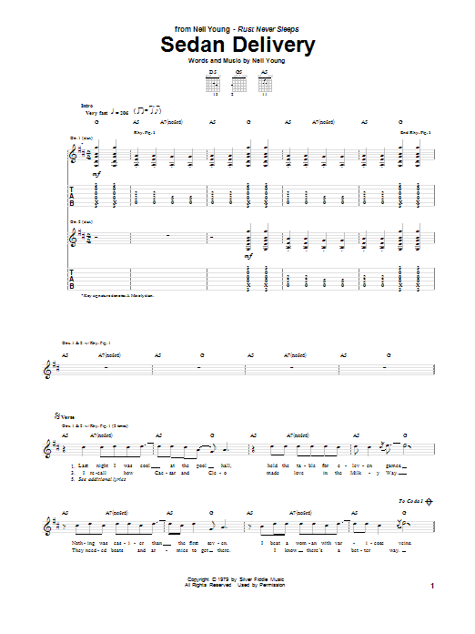 Sedan Delivery Sheet Music