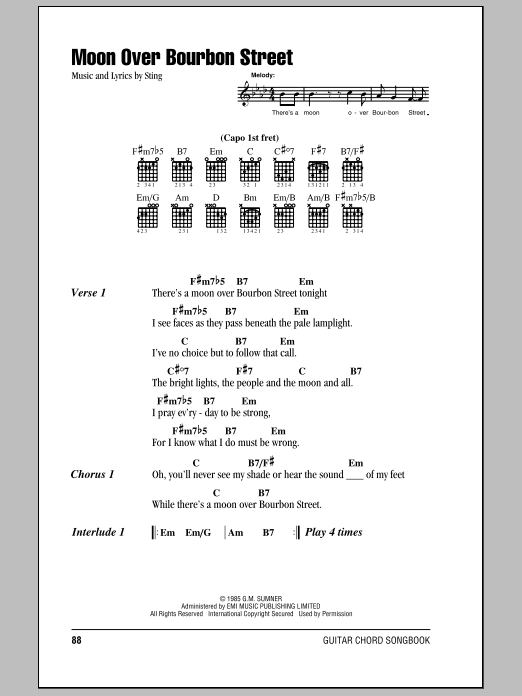 Moon Over Bourbon Street Sheet Music
