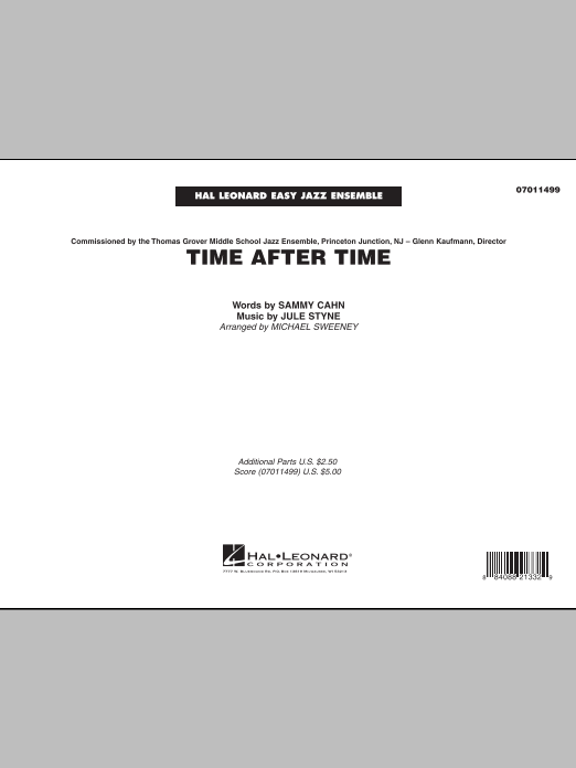 Time After Time - Full Score (Jazz Ensemble)