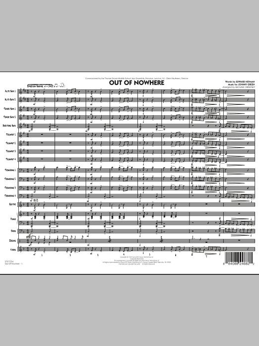 Out of Nowhere - Full Score (Jazz Ensemble)
