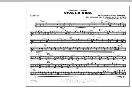 Viva La Vida - Flute/Piccolo (Marching Band)
