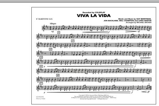 Viva La Vida - Eb Baritone Sax (Marching Band)