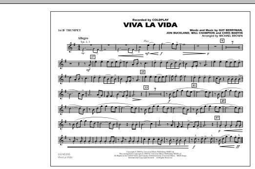 Viva La Vida - 1st Bb Trumpet (Marching Band)