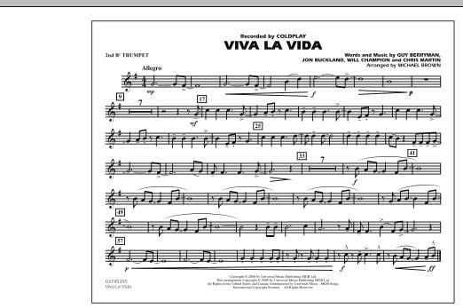 Viva La Vida - 2nd Bb Trumpet (Marching Band)