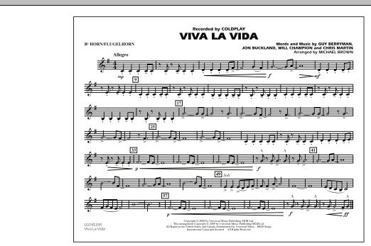 Viva La Vida - Bb Horn/Flugelhorn (Marching Band)