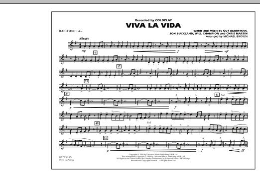 Viva La Vida - Baritone T.C. (Marching Band)
