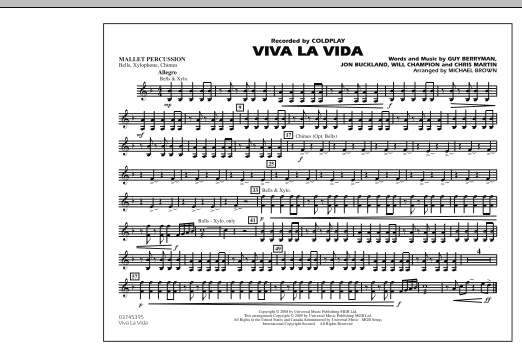 Viva La Vida - Mallet Percussion (Marching Band)