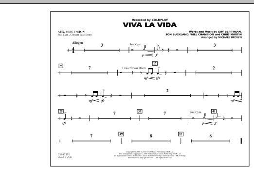 Viva La Vida - Aux Percussion (Marching Band)